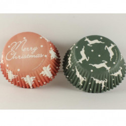 Christmas Theme Muffin Liner