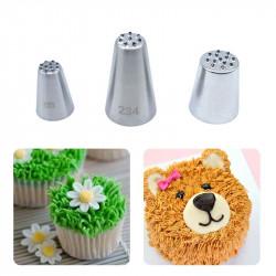 Russian Nozzles Grass Hair Fur Tips Set of 3 Pcs