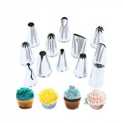 Decorative Nozzle Tips Set of 12 Pcs.