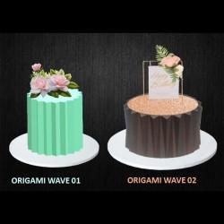 Cake Decoration Origami Sheet Mould Combo of 2