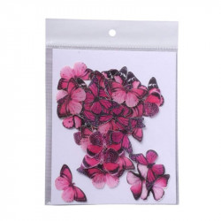 Pink Butterfly Edible Wafer Cake Toppers - Tastycrafts