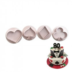 Playing Card Suits Plunger Cutter Set