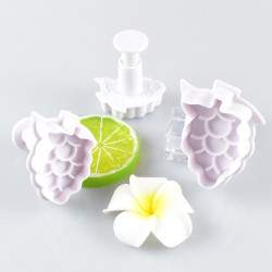 Grapes Shape Plunger Cutter Set of 3 Pieces