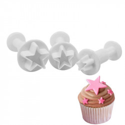 Star Shape Plunger Cutter Set of 3 Pieces