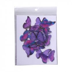 Purple Butterfly Edible Wafer Cake Toppers - Tastycrafts