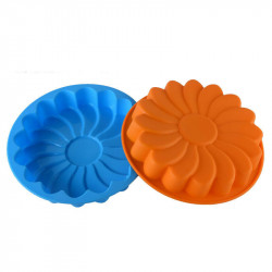 Flower Shape Silicone Cake Mould (Random Colour)
