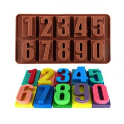 Big Numbers Silicone Chocolate Mould