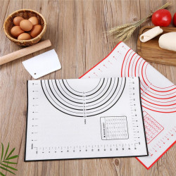 Silicone Dough Kneading Mat With Measurements - 26X29 Cm