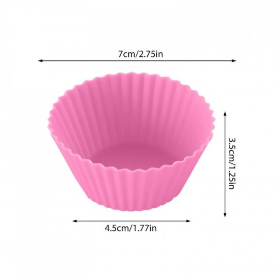 Silicone Cupcake/Muffin Baking Cups - Pack of 12
