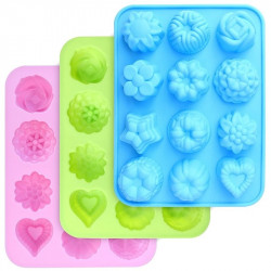 Assorted Shapes 12 Cavity Silicone Mould