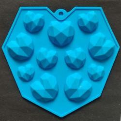 3D Pinata Heart 11 Cavity Silicone Mould