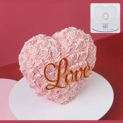 Standing Heart Acrylic Cake Stand