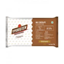Van Houten Milk Chocolate Couverture (35.6% Cocoa) - 1 Kg
