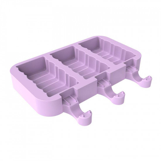 Wave design 3 Cavity Silicone Popsicle Mould